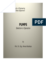 Pump Selection&Operation