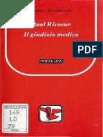 Ricoeur - Il Giudizio Medico