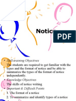 Notice AND TYPES