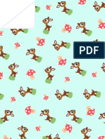 Deer Sh Room Pattern Paper