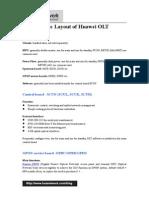 Basic Layout of Huawei OLT
