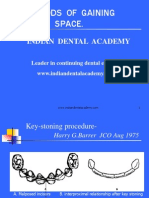 Methods of Gaining Space 1. / orthodontic courses by Indian dental academy