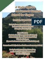 Hand Made Opera Summer School for Singers 2014