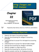 Accounting Changes and Error Analysis