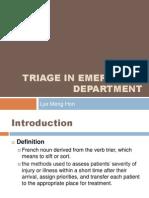 Triage in Emergency Department