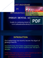Micro Implant Anchorage in Orthodontics / orthodontic courses by Indian dental academy