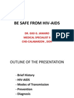 Be Safe From Hiv and Aids - Copy