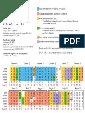 Calendario Unifi.Calendario Didattico Unifi Arch