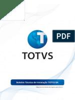 Boletim Tecnico de Instalacao TOTVS BA 002510