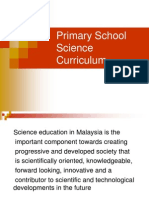 Primary School Science Curriculum Specification 2007
