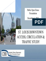 Traffic Study for downtown St. Louis, 2005