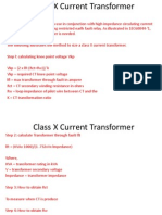 Class X Current Transformer