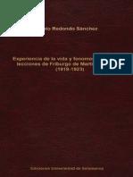 Experiencia de La Vida y Fenomenología en Las Lecciones de Friburgo de Martin Heidegger (1919-1923) - Pablo Redondo Sánchez