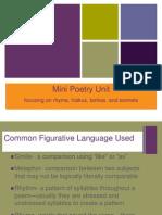 mini poetry unit