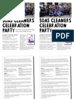 SOAS Cleaners Celebration A5