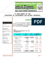 Denr Fy 2014 Budget