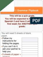 spanish 1 grammar flipbook