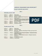 C2K14--Plenary Sessions and Events
