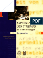 Comentario a Ser y Tiempo de Martin Heidegger (Vol 1 Introducción) - Jorge Eduardo Rivera y María Teresa Stuven