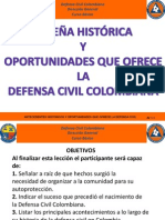 Leccion 2 - Antecedentes Historicos y Oportunidades Que Ofrece La Defensa Civil Colombiana