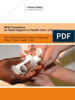 Who Guidelines-handhygiene Summary