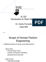 IE 327 Introduction to Work Design
