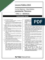 Fgv 2014 Funarte Assistente Tecnico Prova