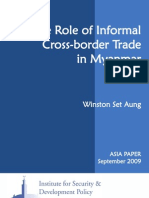 The role  of Informal Cross-border Trade in Myanmar