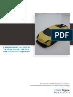 Lamborghini Gallardo Superlegerra LP-570 Papercraft