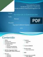 Gestión de La Construcción 2013 Sesion 1