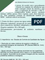 Óleos e Graxas, Fenóis e Detergentes 2006