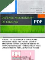 Defense Mechanisms of Gingiva