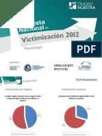 Huancayo-Encuesta de Victimizacion de Ciudad Nuestra 2012