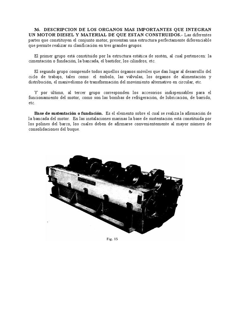 Partes Fundamentales de Un Motor Diesel