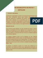 Evaluación Organoléptica de Frutas y Hortalizas