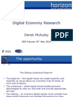 ODI Futures - Digital Economy Research and Open Data by Derek McAuley