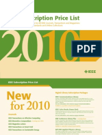Non-Member Subscription Rates for All IEEE Journals, Transactions and Magazines;