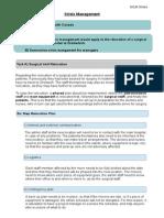 sania crisis planning website