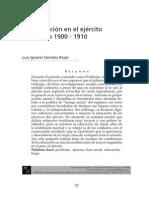 Luis Ignacio Sanchez Rojas, Educacion Ejercito