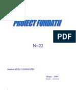 Proiectt Fundattii Complet Tooate Etapele
