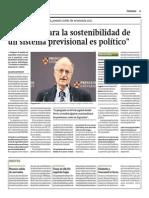 Thomas Sargent Sobre Sistema Previsional Peruano_Gestión 19-05-2014