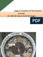 Change in Location of Termination Bracket