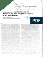 Inserção Profissional Do Psicólogo Em Org. e No Trabalho