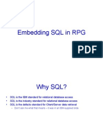 Embedding SQL in RPG