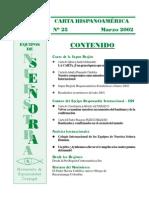 Carta Super Región Hispanoamérica 25 Marzo 2002