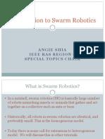 Intro to Swarm Robotics