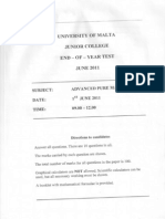 End-of-year Test Past Paper June 2011