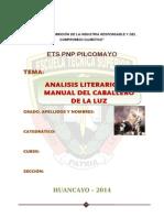 Analisis Literario de Obra Caballero de La Luz Brayan Luchito