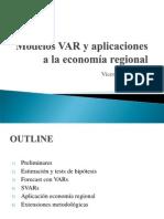 Modelos VAR y Aplicaciones a La Economía Regional