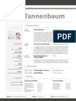 Peter Tannenbaum Resume and Cover